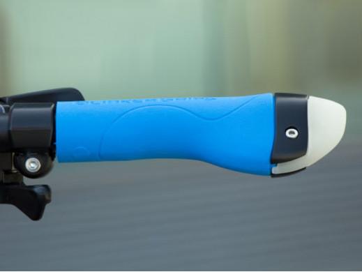 Chwyt rowerowy 3w1 kierunkowskaz lampa niebieski