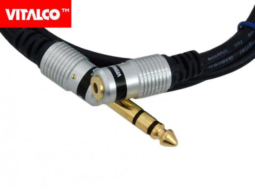 Przewód, kabel jack 3,5mm gniazdo-wtyk 6,3mm stereo MK69 Vitalco