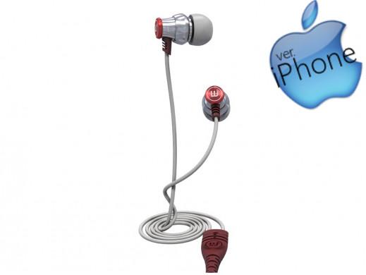 Słuchawki dokanałowe z mikrofonem Brainwavz Delta iOS srebrny