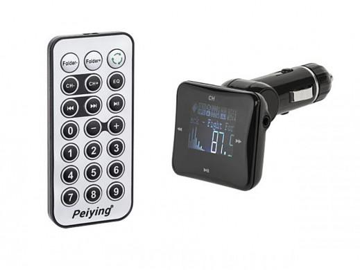 "Transmiter samochodowy 1.4"" USB SD MP3 URZ0460 Peiying"