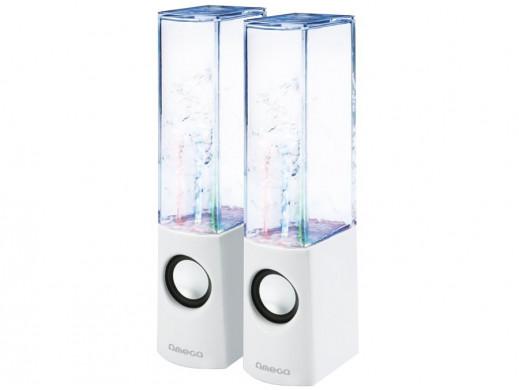 Głośniki komputerowe 2.0 6W Dancing Water OG12 Omega białe