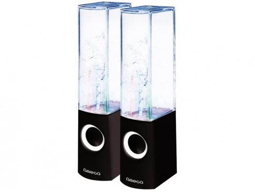 Głośniki komputerowe 2.0 6W Dancing Water OG12 Omega czarne