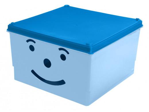Pojemnik na zabawki Smiley BranQ niebieski