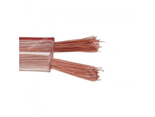 Kabel głośnikowy 2*4,00mm transparent