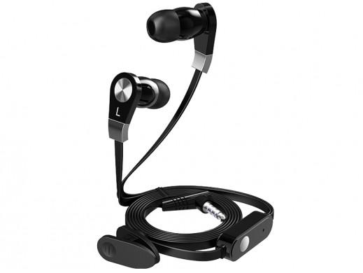 Słuchawki douszne z mikrofonem Blow B-11 czarne