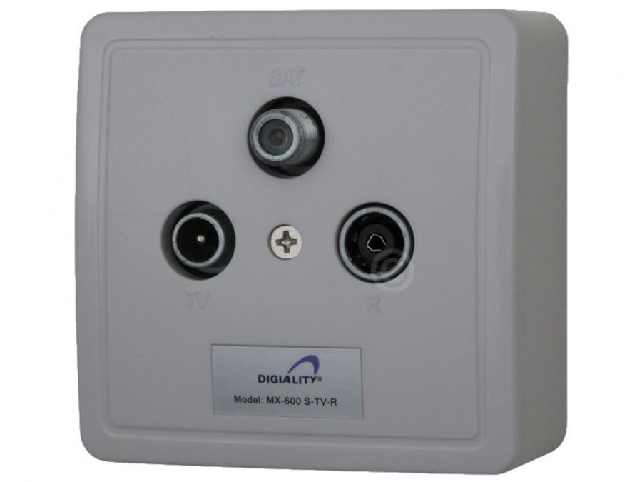 Gniazdo abonenckie sat-TV-R MX-600 końcowe Maximum natynkowe