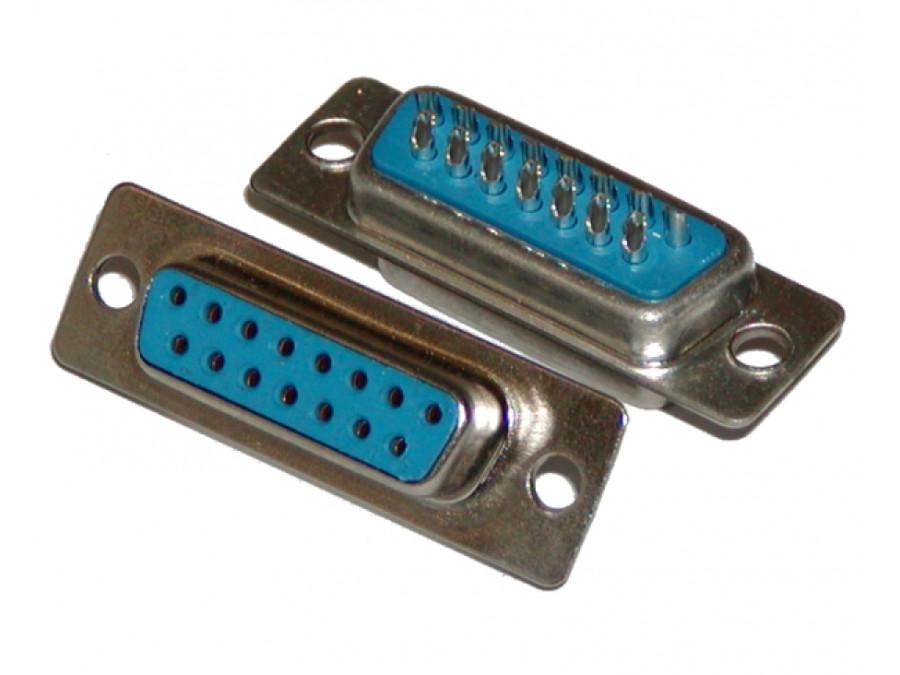 Gniazdo DB15 żeńskie dwurzędowe na kabel