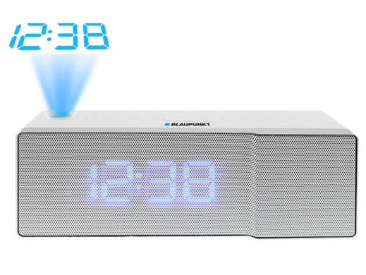 Radiobudzik FM z projektorem USB CRP8WH Blaupunkt