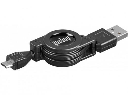 Zwijany kabel USB-microUSB...