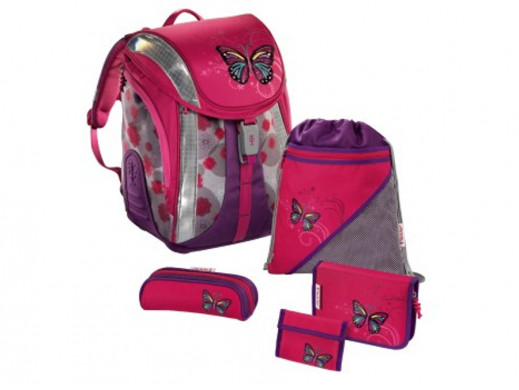 Plecak szkolny Lovely Butterfly 5cz Flexline Hama