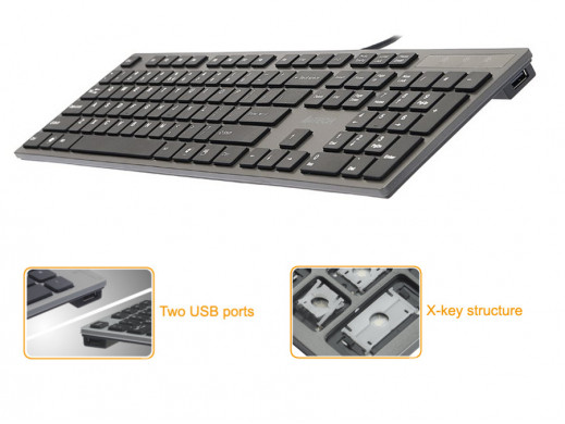 Klawiatura KV-300H Slim USB...