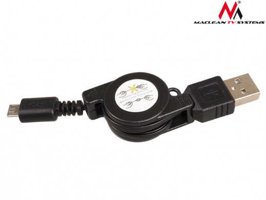 Kabel USB-micro 5P czarny...