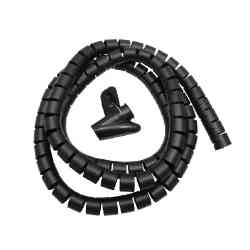 Organizator maskownica kabli, 25mm x 2m Maclean MCTV-676 B czarna