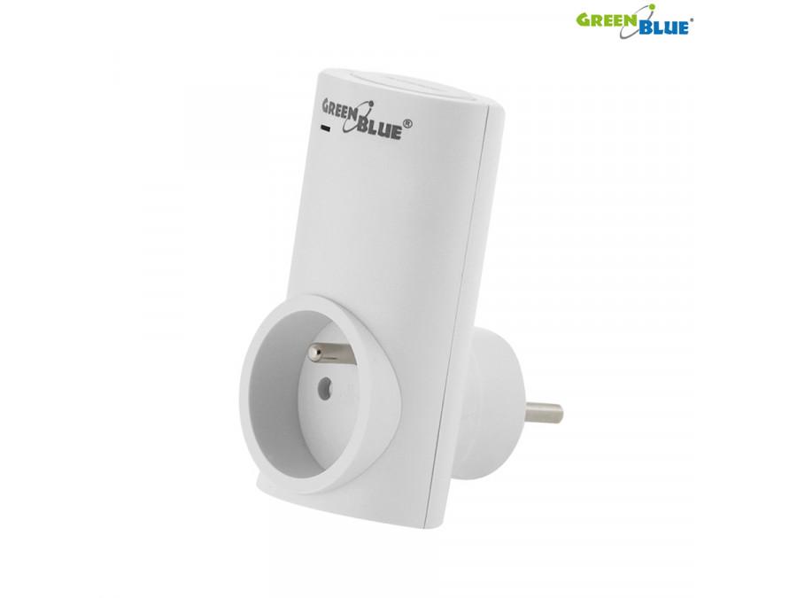 Zdalnie sterowane gniazdko WiFi Android iOS timer GreenBlue GB108 max 2300W 8 programów, wi-fi