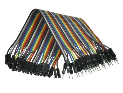 Płytka stykowa-przewody żeńsko /męskie L-20cm 10 kolorów 40szt