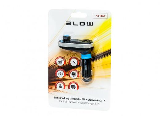 """Transmiter FM BLOW 1,4"""" LCD 2xUSB 2,1A"""