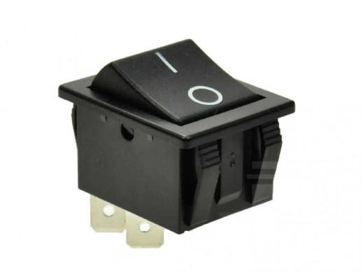 Przełącznik klawiszowy 2 pozycje 4pin C1551 szeroki czarny