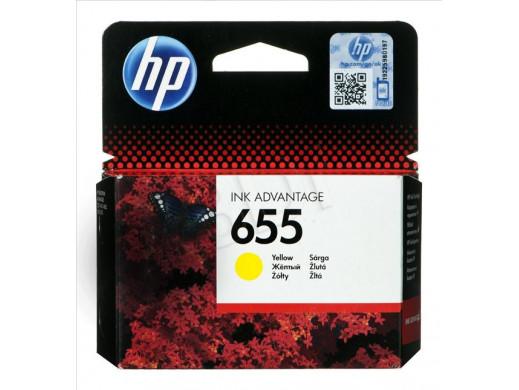 Tusz HP CZ112AE no655 żółty...