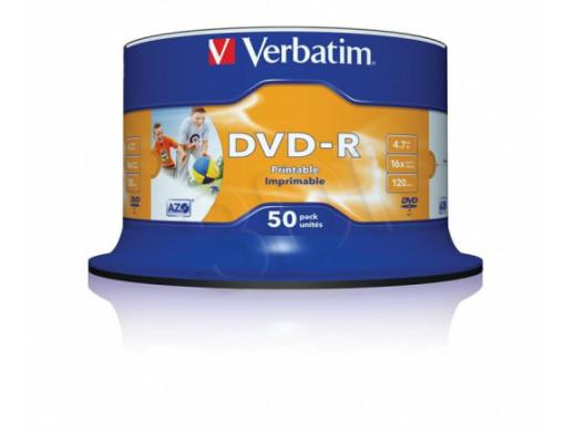 Płyta DVD-R 4,7GB Verbatim bez opakowania printable