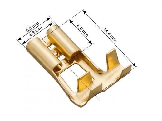 Konektor 4,8mm żeński kątowy