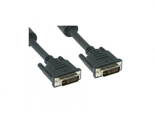 Przewód, kabel l DVI M-M AK-AV-02 1.8m (24+5) Gold Akyga