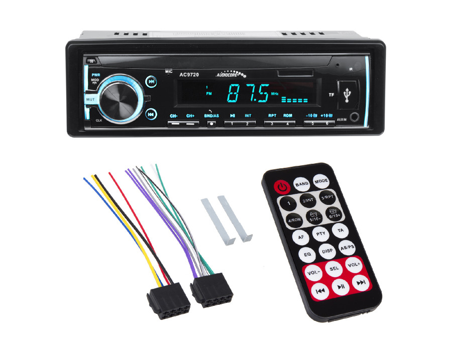 Radioodtwarzacz Audiocore AC9720 B MP3/WMA/USB/RDS/SD ISO Bluetooth Multicolor