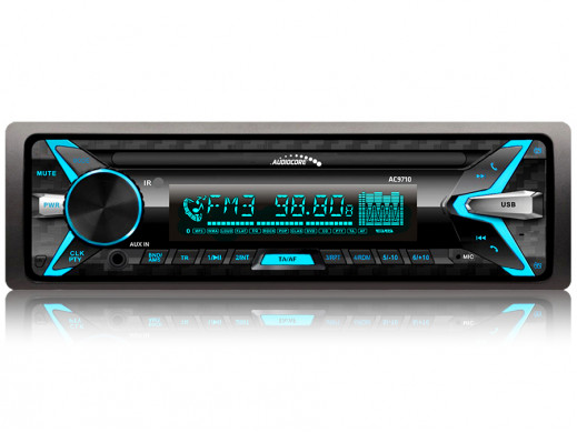 Radioodtwarzacz Audiocore AC9710 B MP3/WMA/USB/RDS/SD ISO Panel Bluetooth Multicolor