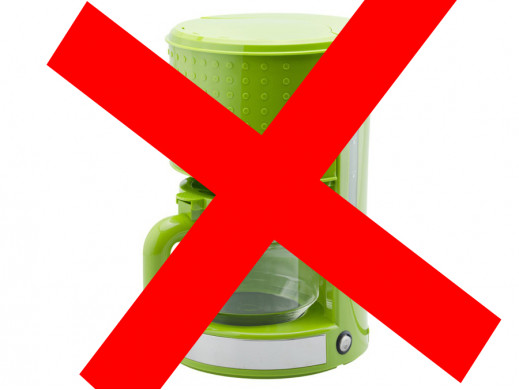 Ekspres do kawy przelewowy Punto Verde Botti zielony