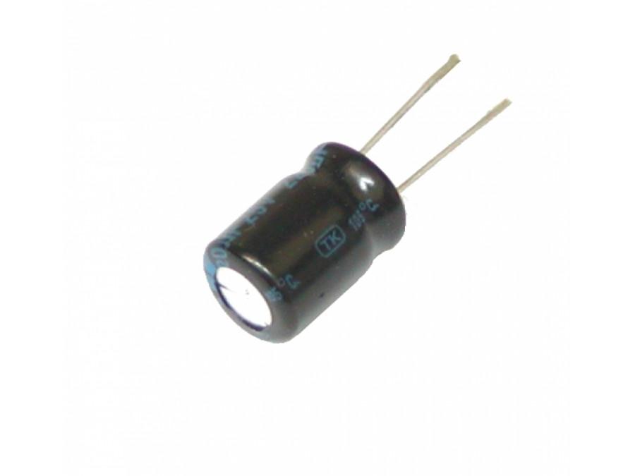 Kondensator elektrolityczny 220uF 25V 105C