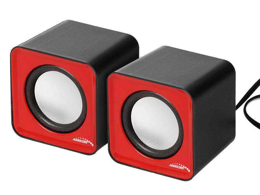 Głośniki komputerowe 6W USB  Red&Black Audiocore AC870 R