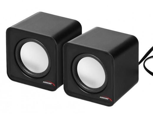 Głośniki komputerowe 6W USB Silver&Black Audiocore AC870 B