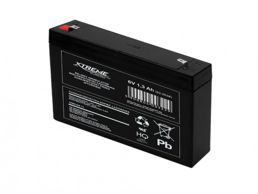 Akumulator żelowy 6V 1,3Ah...