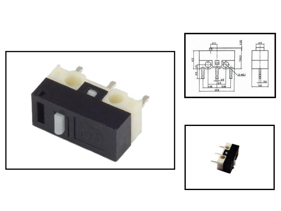Wyłącznik krańcowy 13*6mm h-7mm do druku 3 pin