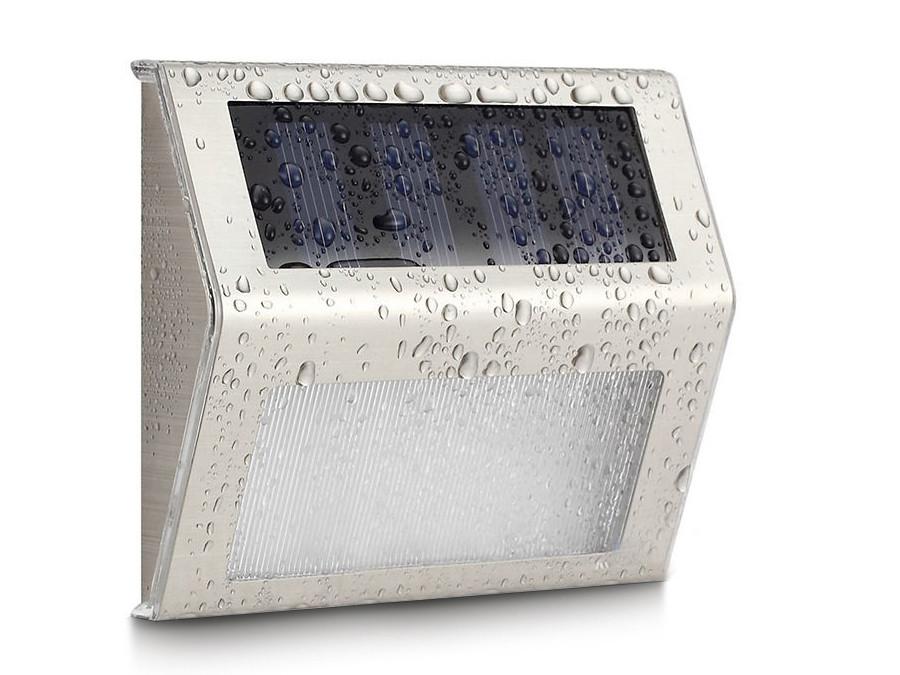 Lampa solarna 2LED na ogrodzenie schody MCE119 Maclean Energy Inox