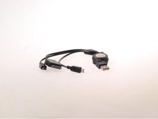 Zwijany kabel USB 3w1...