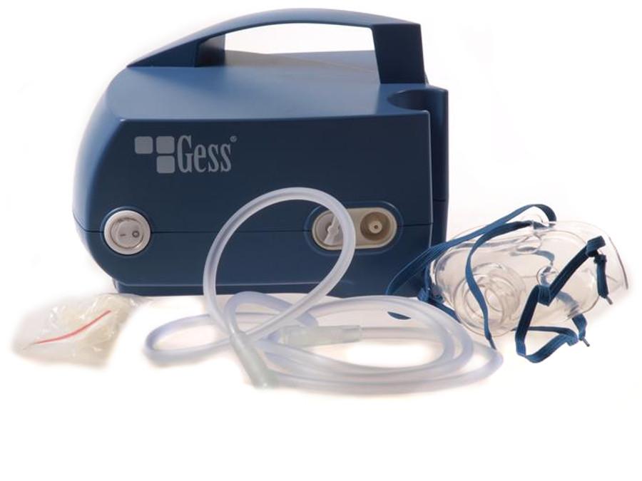 Inhalator tłokowy Gess Maja POSERWISOWY Brak pojemnika i pudełka, ślady użytkowania
