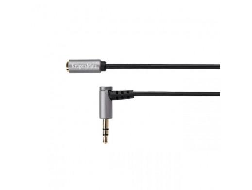 Kabel wtyk kątowy - gniazdo jack 3.5 stereo 1.8m Kruger&Matz