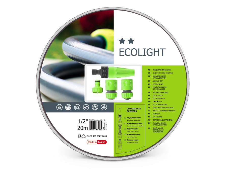 """Zestaw ogrodowy 20m 1/2"""" Cellfast Ecolight"""