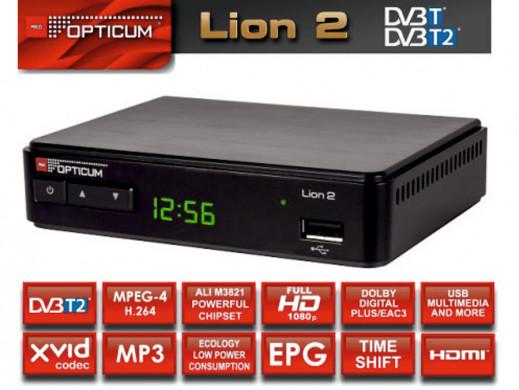 Tuner DVB-T/T2 Opticum...