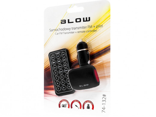 Transmiter FM USB SD/MMC czerwony Blow