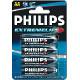 Bateria R-06 Philips extreme life alkaiczna