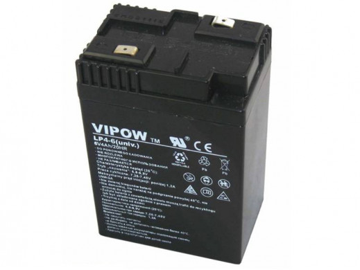 Akumulator żelowy Vipow 6V 4Ah