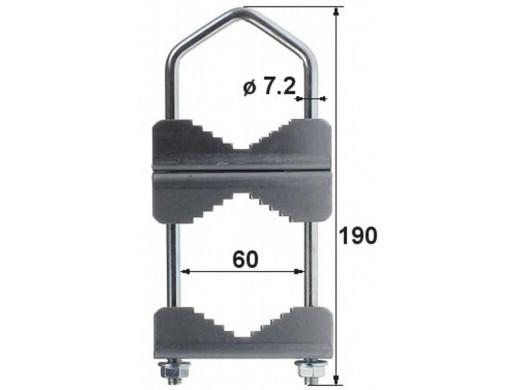 Obejma zaciskowa łącząca maszt OZP-60