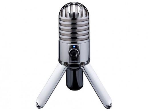 Mikrofon pojemnościowy USB Samson Meteor srebrny