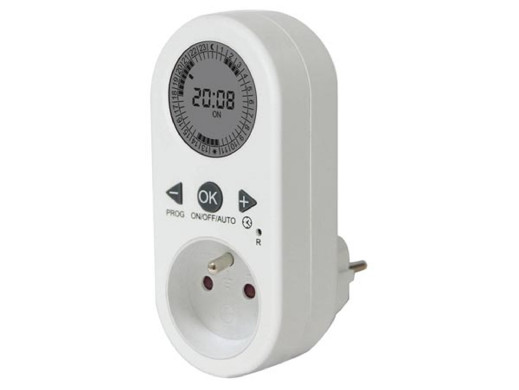 24 HOUR DIGITAL TIMER - FRENCH PLUG