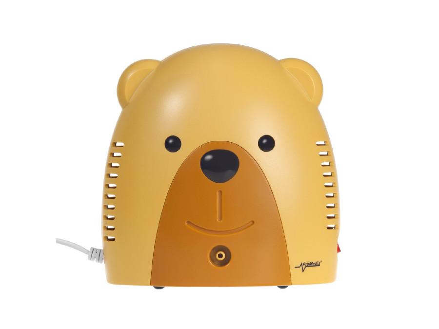 Inhalator dla dzieci Promedix PR-811 misiek, zestaw nebulizator, maski, filterki