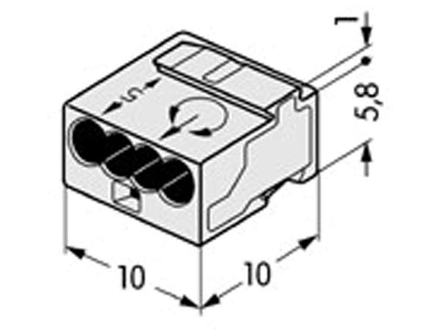 Złączka instalacyjna MIKRO 4-przewodowa
