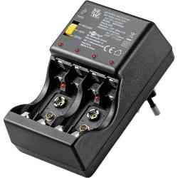 Ładowarka akumulatorów AA AAA 9V Goobay