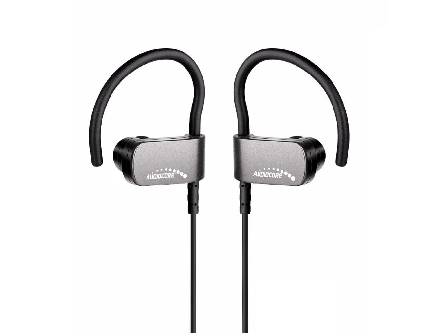 Słuchawki sportowe bluetooth v4.1 Audiocore AC840 srebrne CSR Apt-X