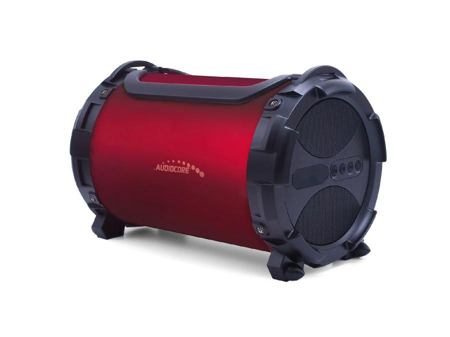 Głośnik bazooka, bluetooth, FM, karta microSD Audiocore AC880 bordowy, IPX4, 2000mAh